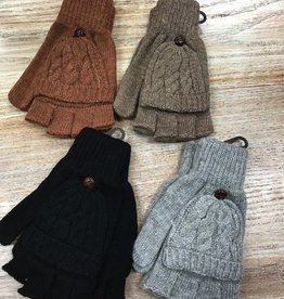 Gloves Cable Knit Pop Top Gloves