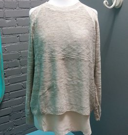 Sweater Taupe Cold Shoulder Sweater