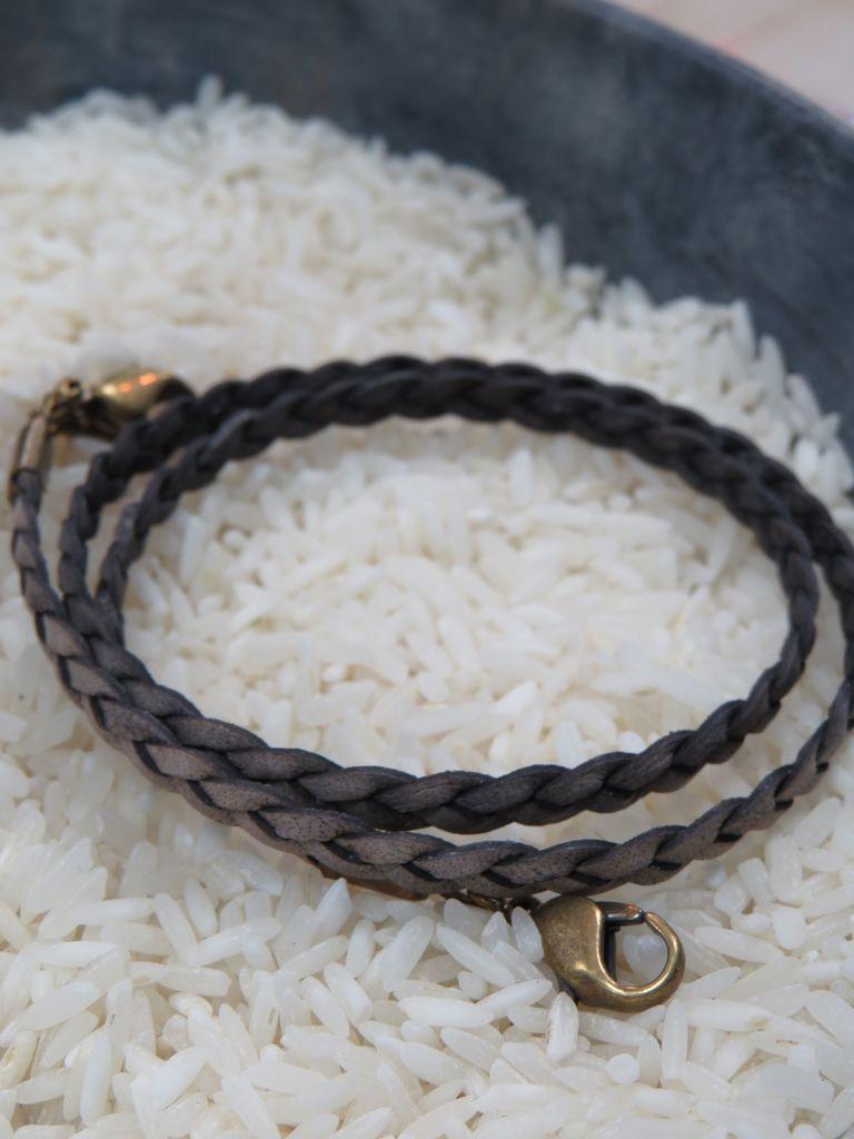 Jewelry Bronze Braided Wrap