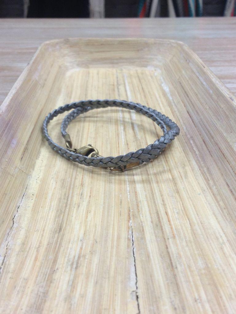 Jewelry Pewter Braided Wrap