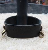 Jewelry Graphite Thin Leather Cuff