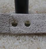 Jewelry Platinum Thin Leather Cuff