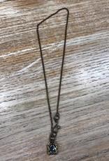 Jewelry Square Shape Swarvoski Necklace