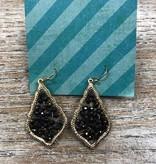 Jewelry Black Beaded Earrings