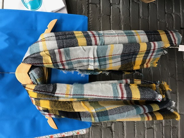 Scarf Plaid Blanket Scarf
