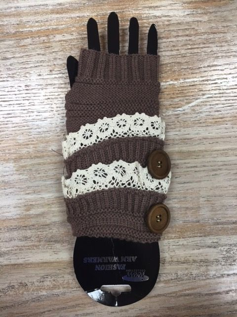 Gloves Big Button Lace Arm Warmers