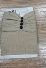 Accessory Ruched Boot Cuffs-Taupe