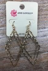 Jewelry Double Link Diamond Dangle Earrings