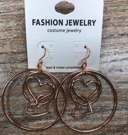 Jewelry Multi Link Heart Hoop Earrings