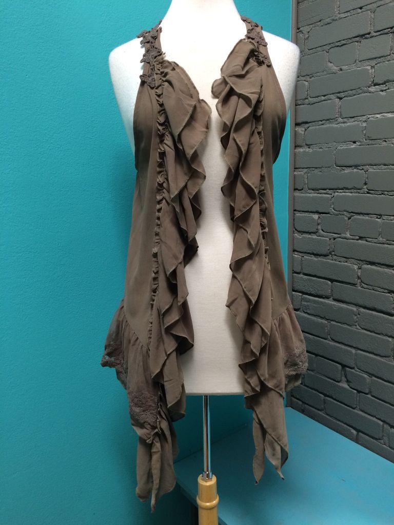 Vest Ruffle and Lace Vest