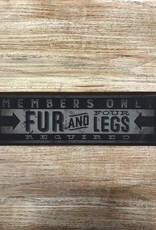 Decor Fur and Four Legs Wood Plaque