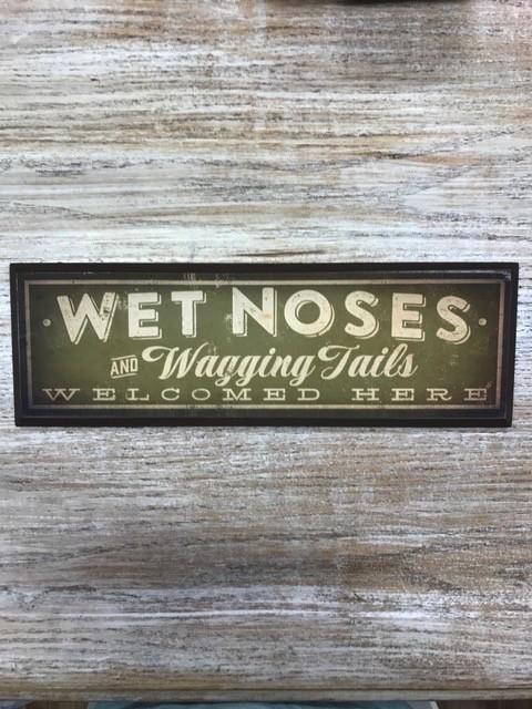 Decor Wet Noses Wood Plaque