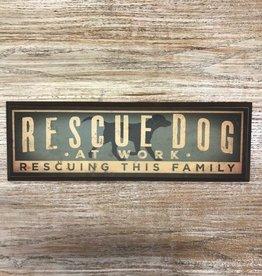 Decor Rescue Dog Wood Plaque