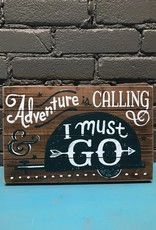 Decor Adventure Is Calling Wall Art 14x9""