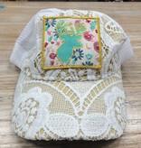 Accessory Floral Deer Crochet Hat