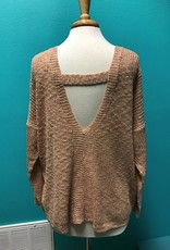 Sweater Blush Sweater w/ Cutout Back