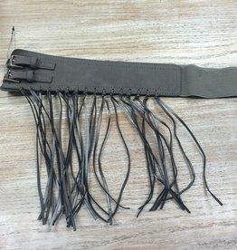 Belt Gray Fringe Belt
