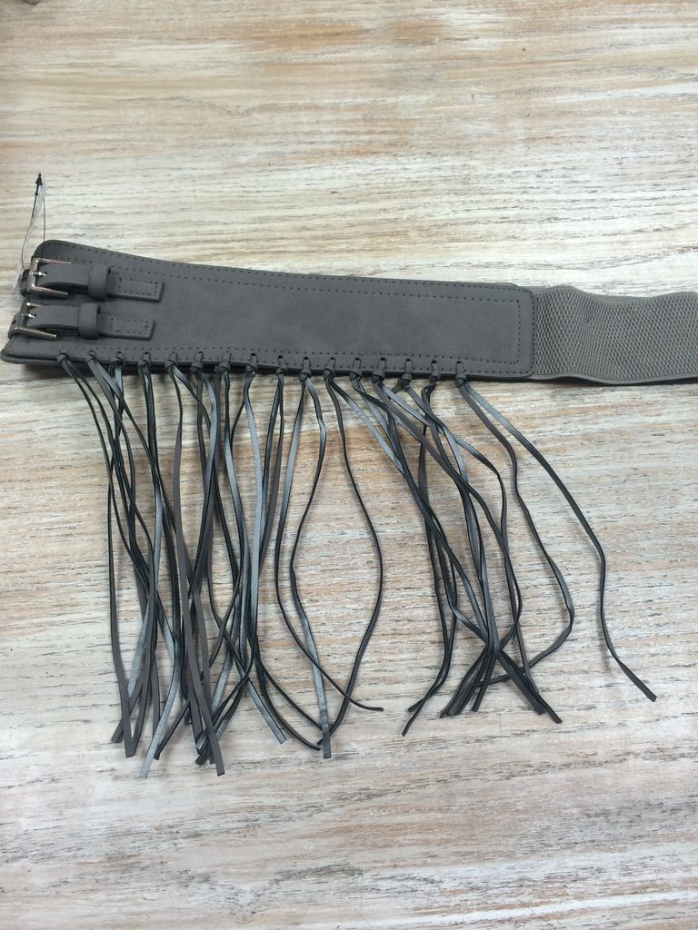 Belt Gray Fringe Belt