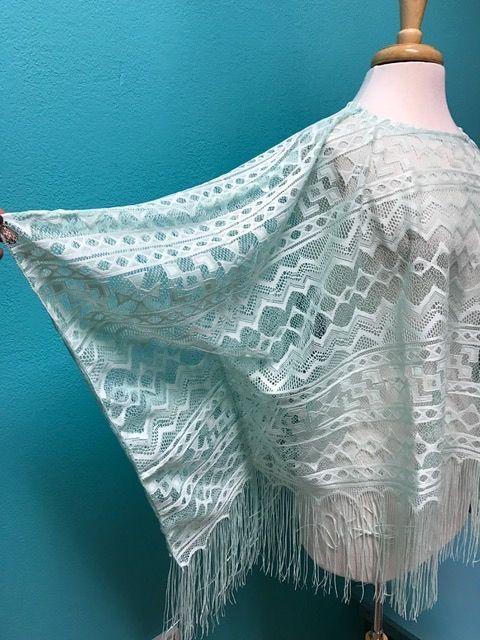 Poncho Crochet Poncho w/ Fringe