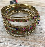 Jewelry Colorful Brass Bangles