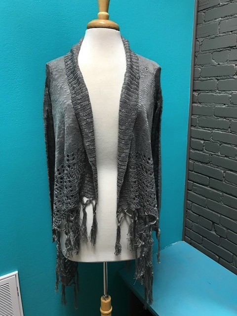 Cardigan Fringe 2 Way Cardigan