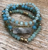 Jewelry 3 Teal Beaded Bracelets