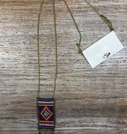 Jewelry Long Aztec Beaded Necklace