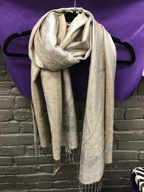 Scarf Gold/Silver Tapistry Scarf