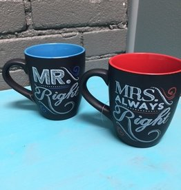 Kitchen Mr & Mrs Right Mugs
