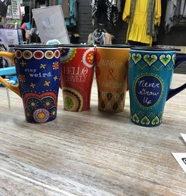 Kitchen Boho Fun Travel Mugs
