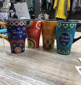Kitchen Boho Fun Travel Mugs