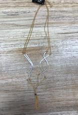 Jewelry Beaded Necklace w/ Tassles