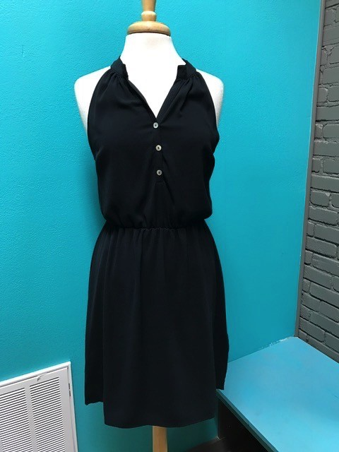 Dress Blk Teagan Racerback Dress