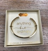 Jewelry Gold Sentiment Cuff