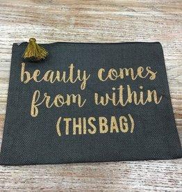 Bag Beauty Comes Gray Jute Bag