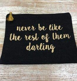 Bag Darling Black Jute Bag