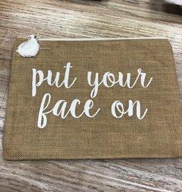 Bag Face On Natural Jute Bag