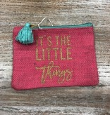 Bag Little Things Pink Jute Bag