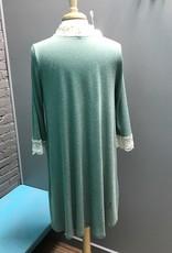 Cardigan Sage Kimono Cardi w/ Lace