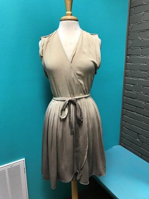 Dress Taupe Dip Dye Dress