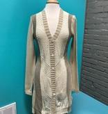 Cardigan Taupe Stripe Knit Cardi