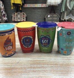 Kitchen Ceramic Tea Infuser Mugs