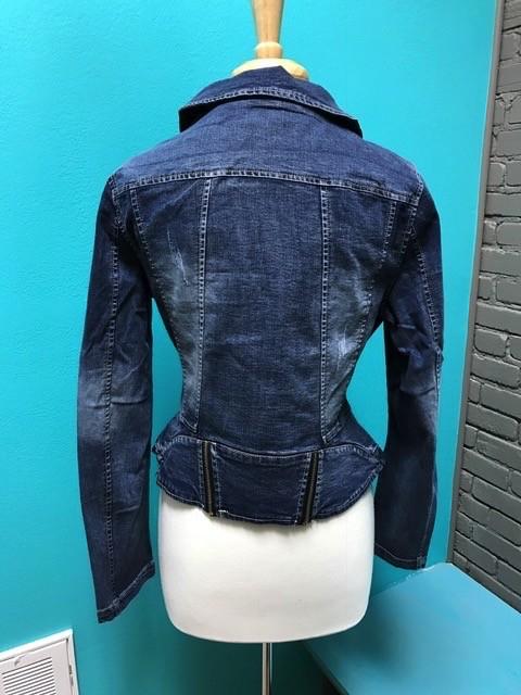 Jacket Asymetrical Jean Jacket