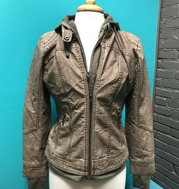 Jacket Gray/Green Zip Jacket