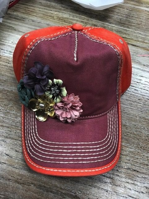 Hat MultiColored Floral Cap