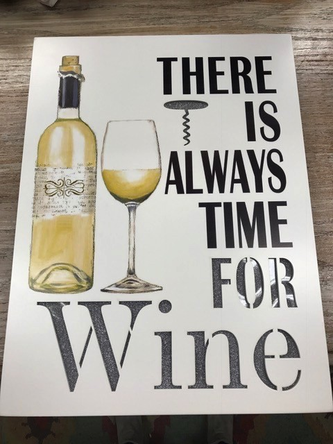 Decor Time For Wine Lit Sign 15.5x12