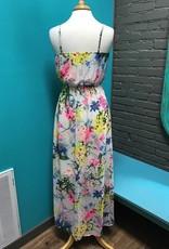 Dress Bright Floral Print Maxi Dress