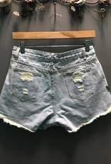 Shorts Denim Embroid High Waist Shorts
