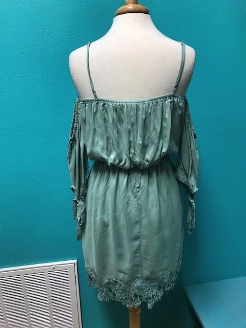 Dress Slate 3/4 Cold Shoulder Dress