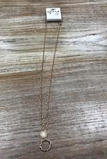 Jewelry Long Gold/Bead Necklace w/ Earrings